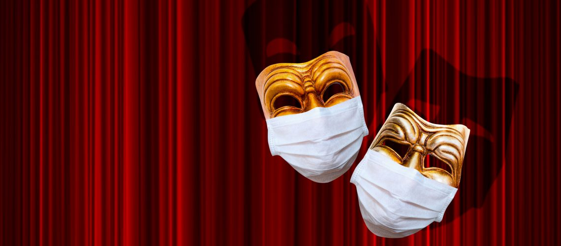 Comedy,And,Tragedy,Theatrical,Mask,Wearing,Protection,Medical,Mask,For