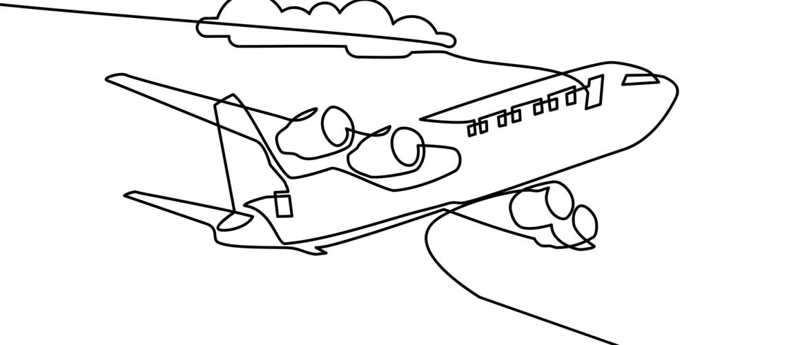 one line drawing plane